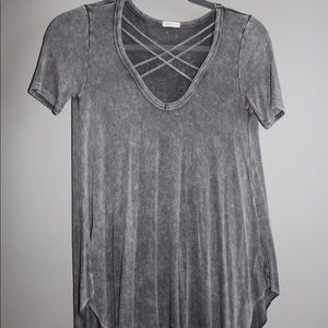 Short sleeve - cross neck top